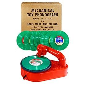 1952 Marx, Mechanical Toy Phonograph in Original Box
