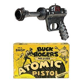 1945 Daisy, Buck Rogers U-235 Atomic Pistol (Black) in Original Box