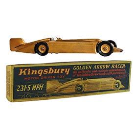 1927 Kingsbury, Clockwork Golden Arrow Racer in Original Box