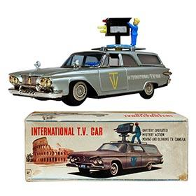 1961 Ichiko, Plymouth International T.V. Car in Original Box