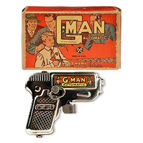 1936 Marx, G-Man Automatic Sparkling  Pistol in Original Box