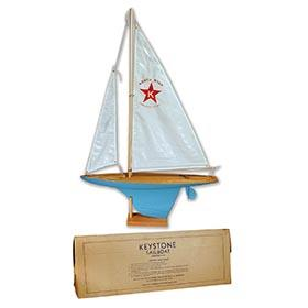 c.1940 Keystone, No. 322 North Star Pond Sailboat in Original Box