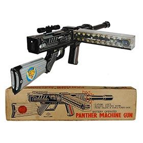 1964 Horikowa, Battery Operated Panther Machine Gun in Original Box