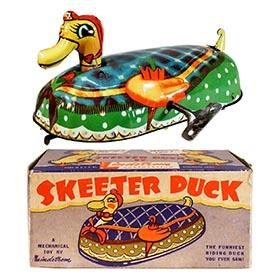 c.1950 Lindstrom, No. 55 Skeeter Duck in Original Box