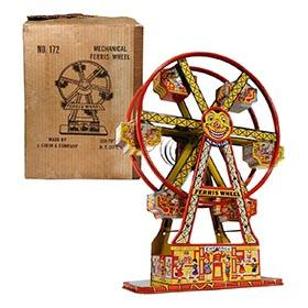 c.1934 Chein, No. 172 Hercules Mechanical Ferris Wheel in Original Box
