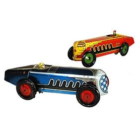 c.1935 Marx, Speed Racer (Blue) and Giant King Racer (Red)