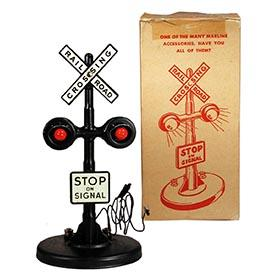 c.1950 Marx, No. 423 Twin Light Crossing Flasher in Original Box