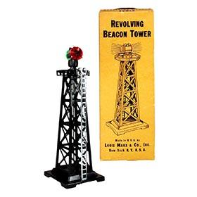 c.1952 Marx, Revolving Beacon Tower in Original Box