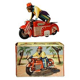 1950 GAMA 125,  Acrobatic Motorbike Chimp in Original Box
