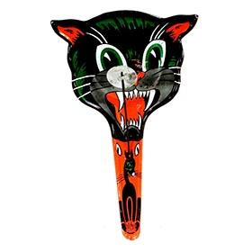 1940's U.S. Metal, Howling Halloween Black Cat Pan Knocker