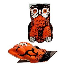 1940's Three Pressed Steel Embossed Owl and Frog Clickers