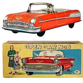 1957 Masudaya, Chevrolet Convertible (Open Car No.6) in Original Box