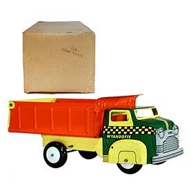 1956 Wyandotte, No. 124 Dump Truck in Original Box