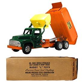 1956 Buddy L, No. 5892 Double Hydraulic Self-Loader 'N Dump in Original Box