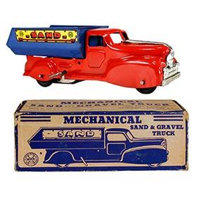 c.1941 Marx, No.444 Mechanical Sand & Gravel Truck in Original Box