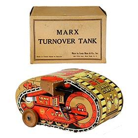 c.1940 Marx, Turnover Tank (5th Version) in Original Box