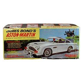 1965 Gilbert, James Bond's Aston-Martin, Box Only with One Insert
