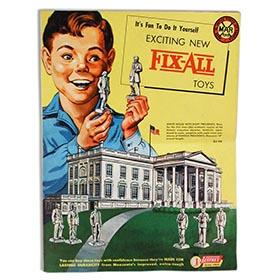 Marx, 1954 Dealers Catalog for Fix-All Line & White House Set