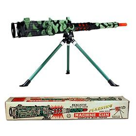 1961 Marx, Battery Operated Recoiling Tripod Machine Gun in Original Box