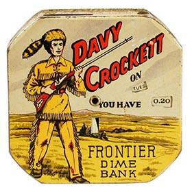 c.1955 Superior Toy, Davy Crockett Frontier Dime Bank