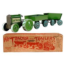 1918 Animate Toy Co., Baby Tractor & Trailers in Original Box