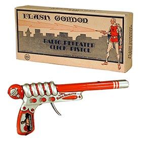 1935 Marx, Flash Gordon Radio Repeater Click Pistol in Original Box