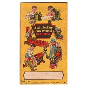 1925 Keystone, Original 32pg. Color Toy Catalog