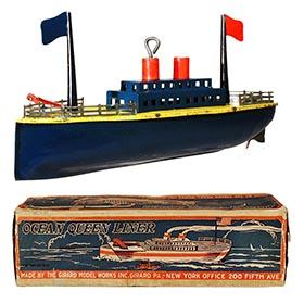 1923 Girard, Mechanical Ocean Queen Liner in Original Box
