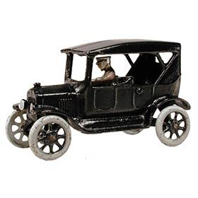 1923 Arcade, Cast Iron Ford Touring Car with Driver