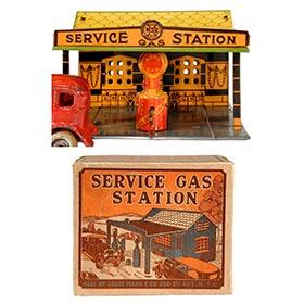 1929 Marx, Service Gas Station in Original Box