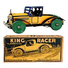 1925 Marx, King Racer (The Monarch of All) in Original Box