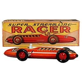 c.1948 Marx, Super Streamline Racer #12 in Original Box
