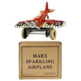 c.1939 Marx, U.S. Army Sparkling (Pursuit) Airplane in Original Box