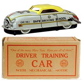 c.1950 Marx, Driver Training Car (Yellow Roof) in Original Box