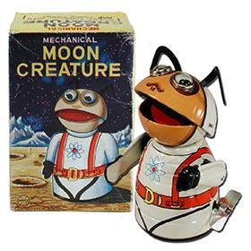 1968 Marx, Mechanical Moon Creature in Original Box