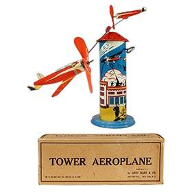 c.1947 Marx, Tower Aeroplane (Version 2) in Original Box
