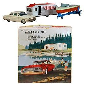1961 Bandai, 4pc. Vacationer Set in Original Box