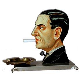1926 Kellerman, Mechanical Head Cigarette Dispenser
