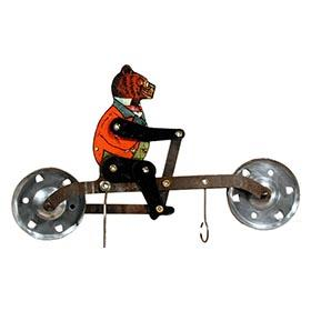c.1907 A.C. Gilbert, Roosevelt Bear Mechanical Balancing Bicycle Toy (#2)