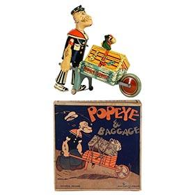 1932 Marx, Popeye & Baggage in Original Box