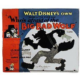 1933 Parker Brothers, Who's Afraid of the Big Bad Wolf in Original Box