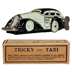 c.1940 Marx, Black & White Tricky Taxi in Original Box