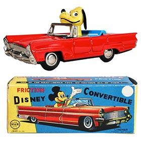 c.1956 Linemar, Disney Friction Convertible in Original Box