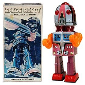 c.1969 Nomura, Space Robot X-70 (Tulip Head) in Original Box