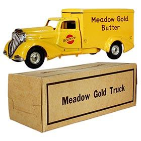1935 Metalcraft, Beatrice Meadow Gold Butter Truck in Original Box