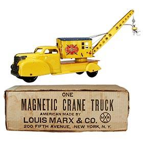 1950 Marx, (Electro) Magnetic Crane Truck in Original Box