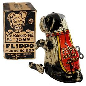 c.1941 Marx, Flippo the Jumping Dog in Original Box