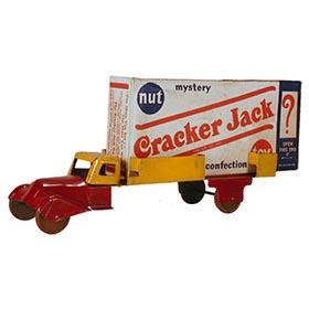 c.1936 Wyandotte, Streamlined Cracker Jack Flatbed Truck with Sealed 1930's Box