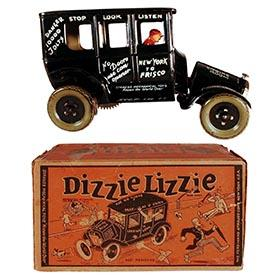 1925 Strauss, Dizzie Lizzie (Leaping Lena) Automobile in Original Box