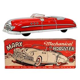 1949 Marx, Mechanical Roadster (Red) in Original Box